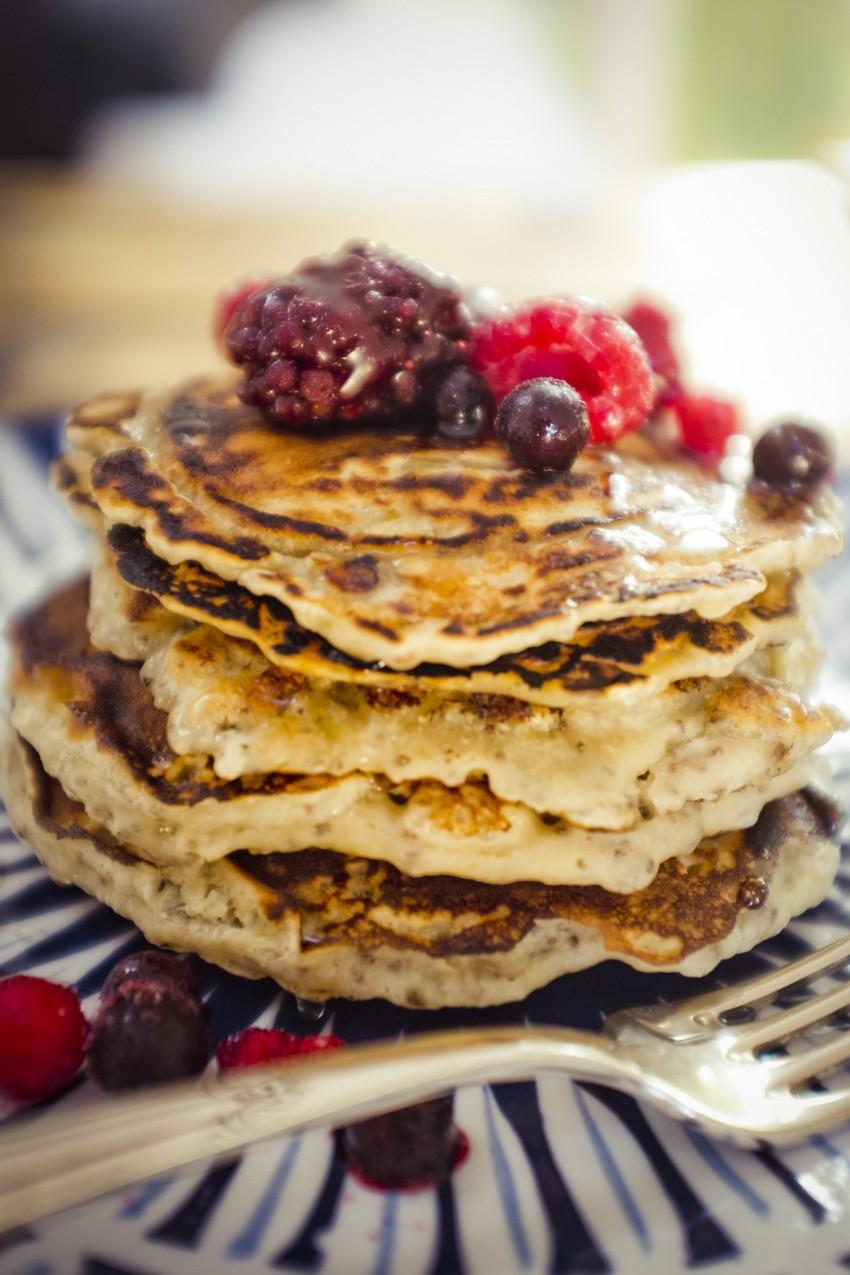 Rezept Pancakes mit Chia - Samen vegan Anja Krause Blog blog.anjiko.com Anjiko