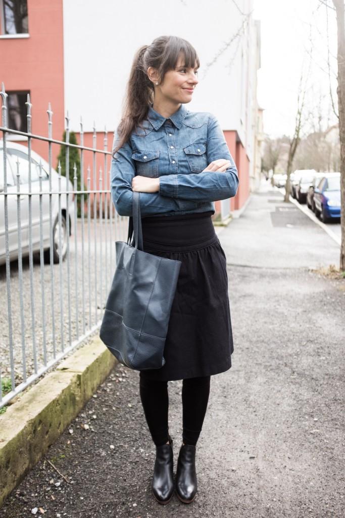 Kleid boots kombinieren